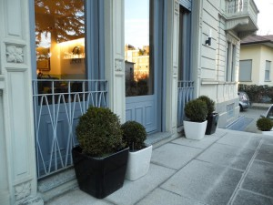 Emmeproject - Serramenti alluminio ingresso - pannelli decorati