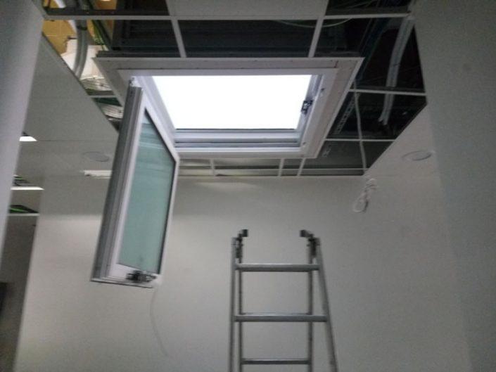 Installazione lucernario interno