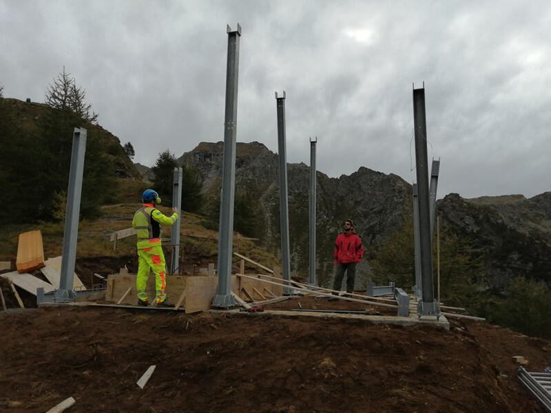 Emmeproject - Teleferica Agaro Pojala Bionca - lavori in montagna