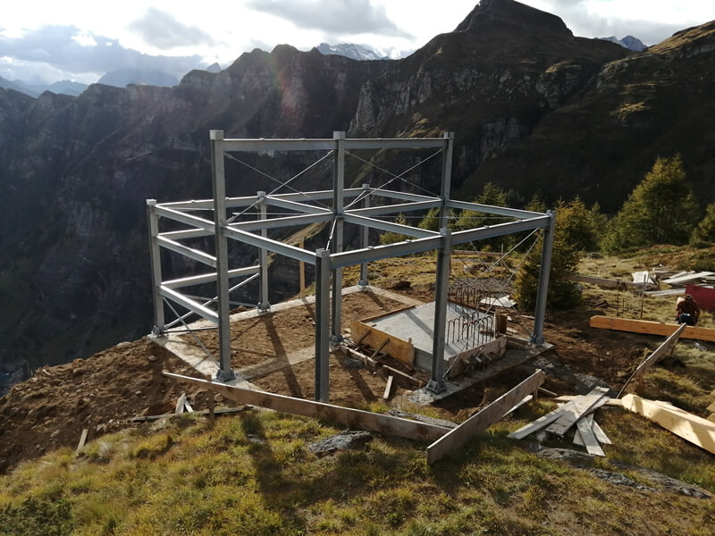Emmeproject - Teleferica Agaro Pojala Bionca - Carpenteria metallica
