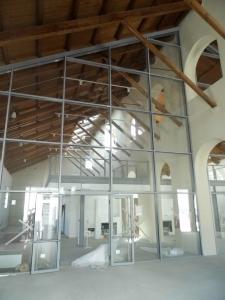 Facciata autoportante acciaio alluminio e vetro