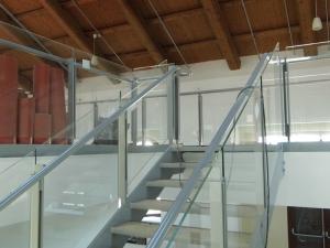 Particolare vetri randa scale