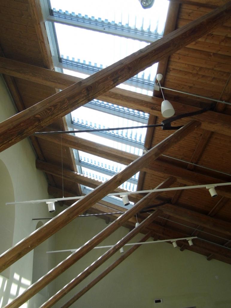 Vista interna lucernari con frangisole
